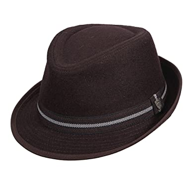 7ad798562 Dorfman Pacific Melton Wool Blend Fedora With Fancy Trim Hat at ...