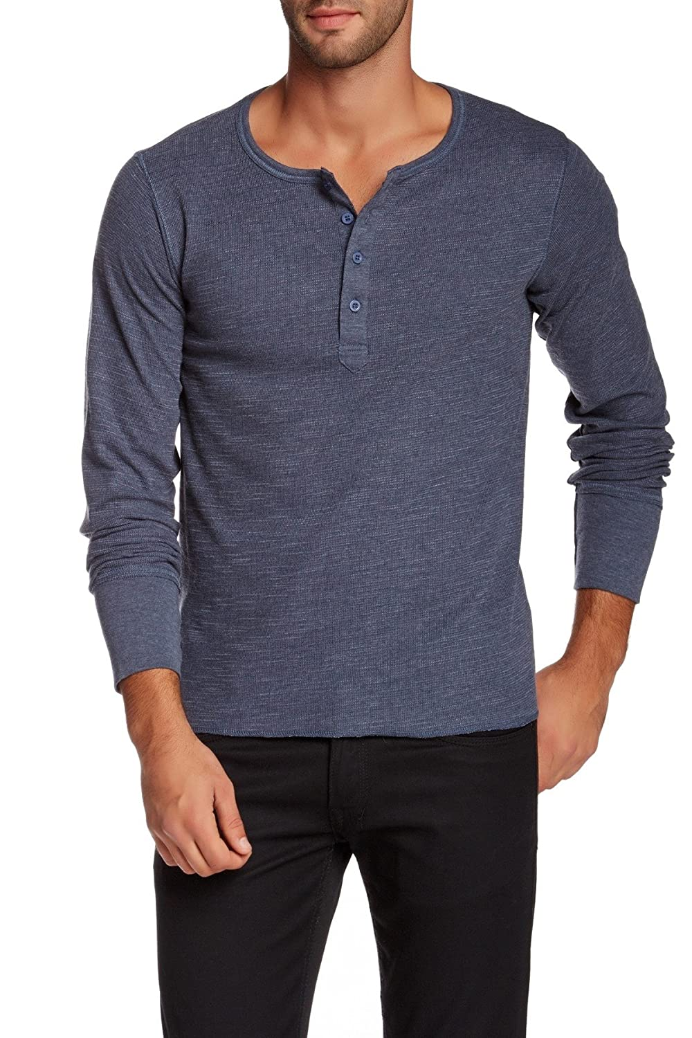 Rogue State Heather Men's Henley Long Sleeve Shirt