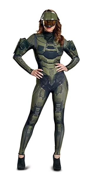 Amazon.com: Disfraz de mujer Master Chief adulto hembra ...