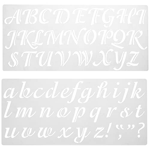 Cursive Letter Stencils Amazon Com