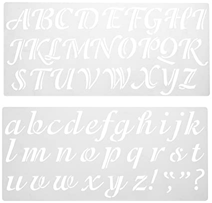 Amazon.com: Darice 121724 Calligraphy Font Upper and Lower Case