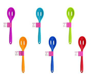 Amazon.com: Core Kitchen Silicone Slotted Spoon, Colors Vary, 1 ...