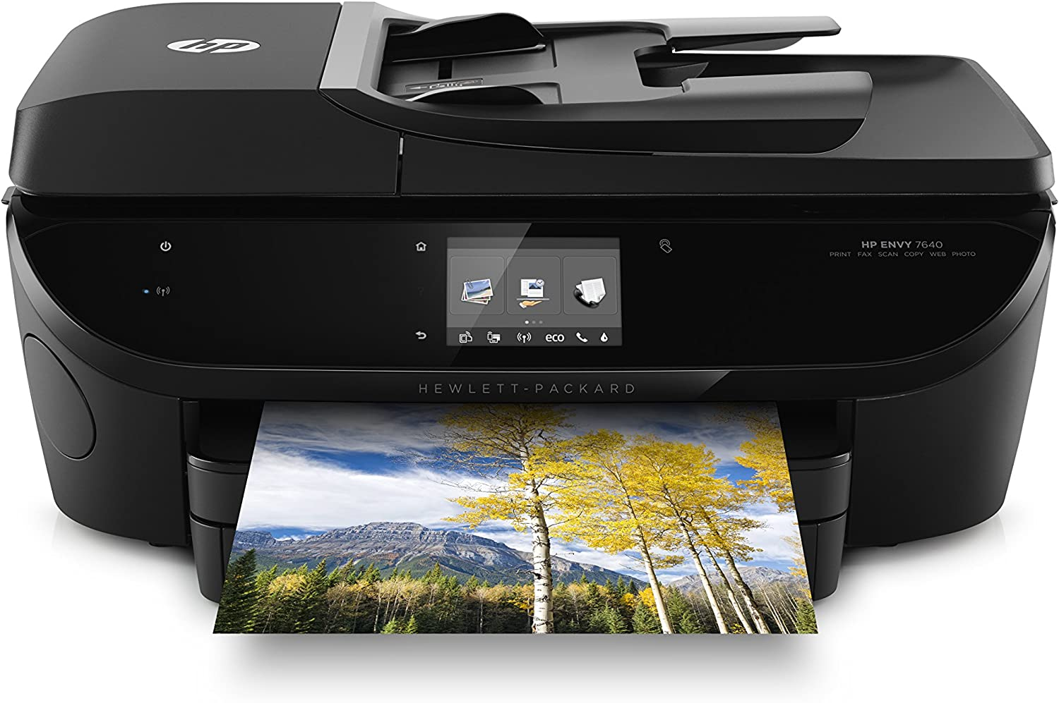 HP Envy 7640 Wireless All-in-One Photo Printer with Mobile Printing, Instant Ink ready, (E4W43AR) (Renewed)