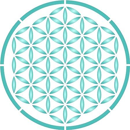 Pochoir Fleur De Vie Pochoir Mandala Geometrie Sacree
