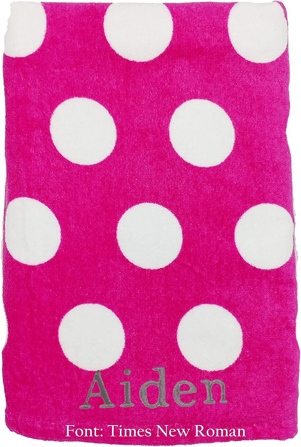BY LORA Personalized 100% Ring Spun Terry Beach Towels, 30 x 60 inhes - 360 GSM Thick - Fuchsia