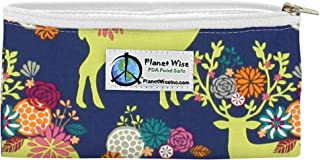 product image for Planet Wise Reusable Zipper Sandwich and Snack Bags, Snack, Caribou Bloom