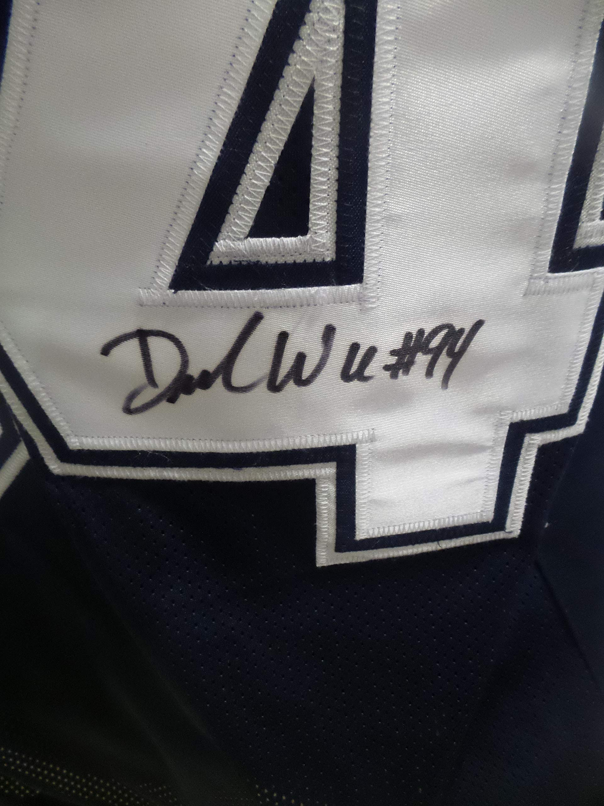 DeMarcus Ware Signed Dallas Cowboys Blue Autographed Jersey Novelty Custom Jersey