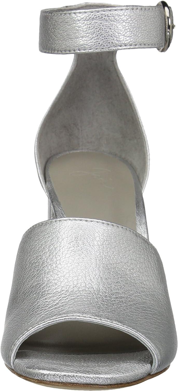 Joie Womens Lahoma Heeled Sandal Silver Metal,