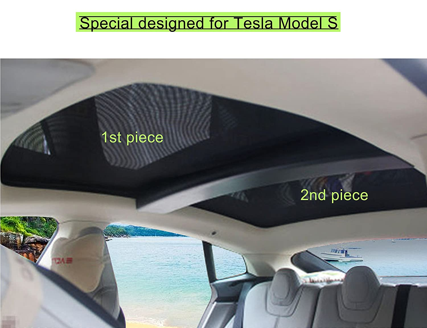 Topfit Sunroof Sunshade, Includes 2 Pieces FITTOP