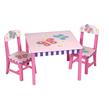 Delightful Guidecraft Butterfly Table And Chair Set
