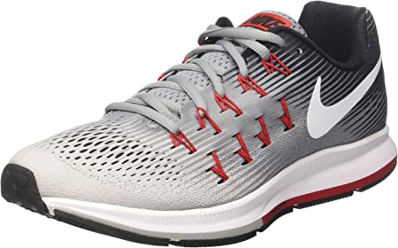 Nike Air Zoom Pegasus 33, Zapatillas de Running Hombre, Gris (Stealth/White/Pure Platinum/Black/Univ Red), 42 EU: Amazon.es: Deportes y aire libre