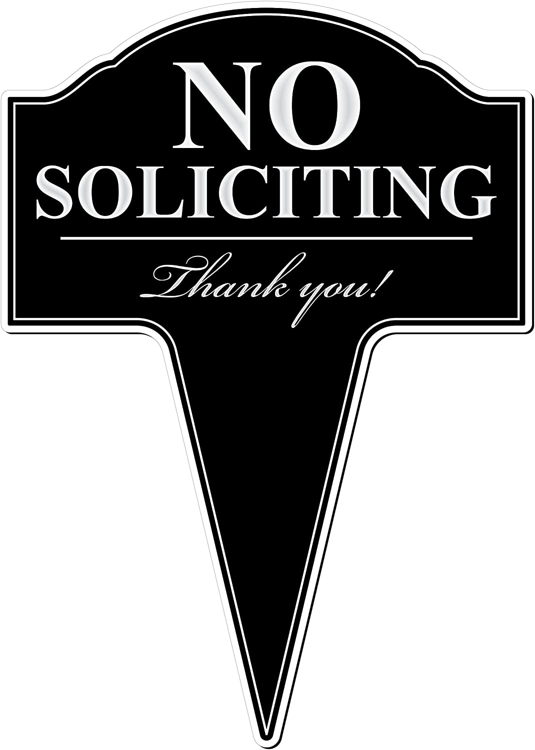 MRC Wood Products No Soliciting Aluminum Yard Sign 10x14