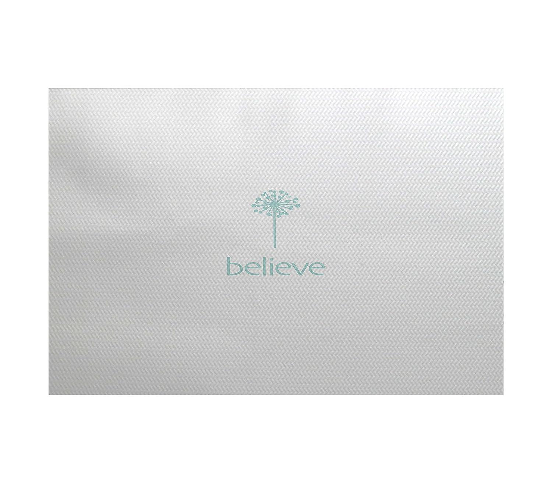 3 x 5 Blue//Aqua E by design RWN522BL29-35 Make a Wish Word Print Indoor//Outdoor Rug