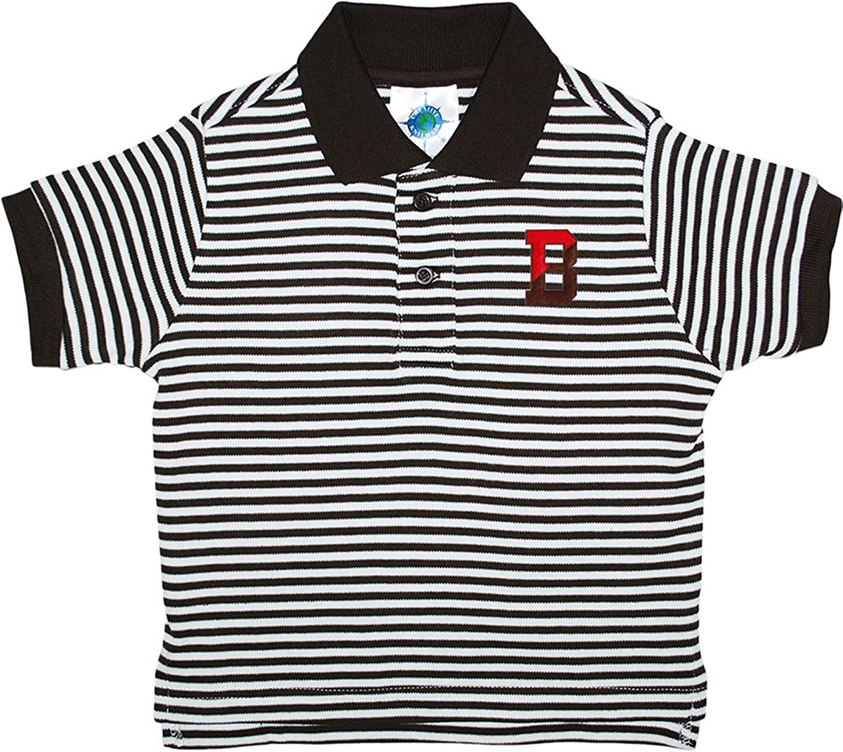 Brown University Bears Striped Polo Shirt