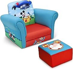 Delta Children Upholstered Chair with Ottoman Disney Mickey Mouse  sc 1 st  Amazon.com & Kidsu0027 Chairs u0026 Seats | Amazon.com