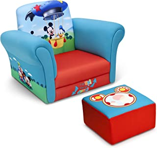 Disney Delta Children Upholstered Chair with Ottoman, Mickey