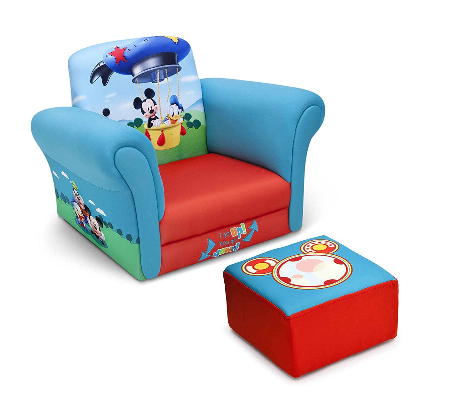 Amazon Delta Children Upholstered Chair with Ottoman Disney