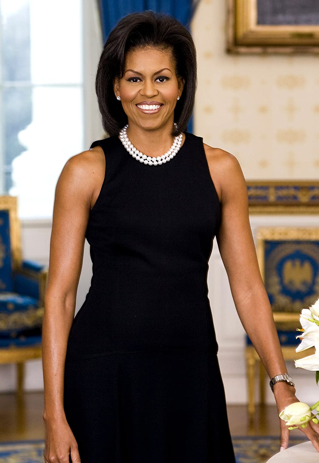 Amazon.com: Michelle Obama Official Portrait First Lady Photo ...