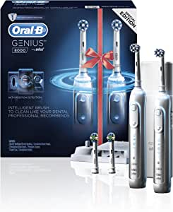 Oral-B GENIUS 8000 – Dual Handle Rechargeable Electric Toothbrush – Powered by Braun