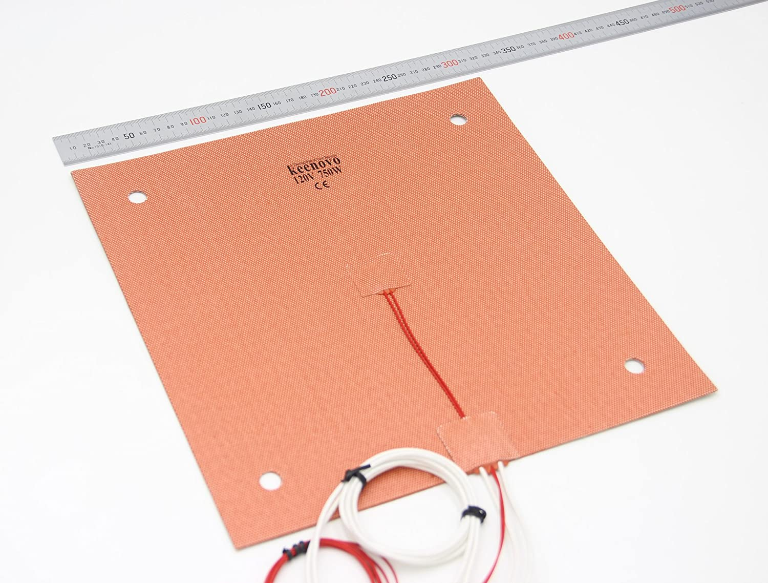 KEENOVO Silicone Heater 310x310mm for Creality CR-10 3D Printer Bed w/Screw Holes (120V)