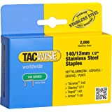 Tacwise 140/12mm Stainless Steel Staples (Box of 2000)