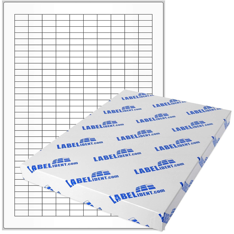 Labelident Etiketten - 18 x 8 mm, rechteckig - Gewebe Gewebe Gewebe (Nylon) gelb, matt, permanent haftend, 3300 Aufkleber, DIN A4 Bogen, 10 Blatt B07BDMZCST Universal-Aufkleber Verbraucher zuerst 57deeb