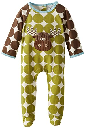 55895c95df Amazon.com  Mud Pie Baby-Boys Newborn Moose Footed One Piece