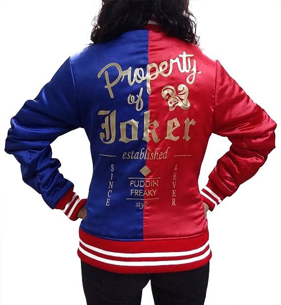 Harley Quinn Suicidio Squad chaqueta en rojo y tela de raso ...