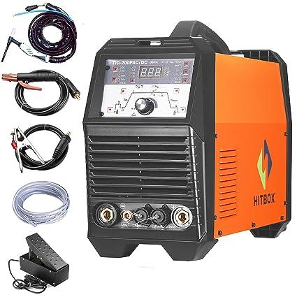 Hitbox 200 A Wig Cambio de Richter de soldar ACDC Impuls de dispositivo de soldadura TIG