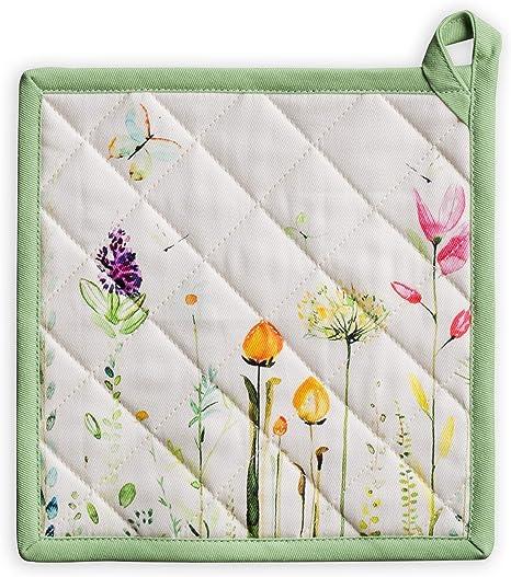 Appliqued Snowdrop Pot Holder; Potholder; Trivet; Hostess Gift; Floral Art; Floral Pot Holder; Hot Pad; Garden Art