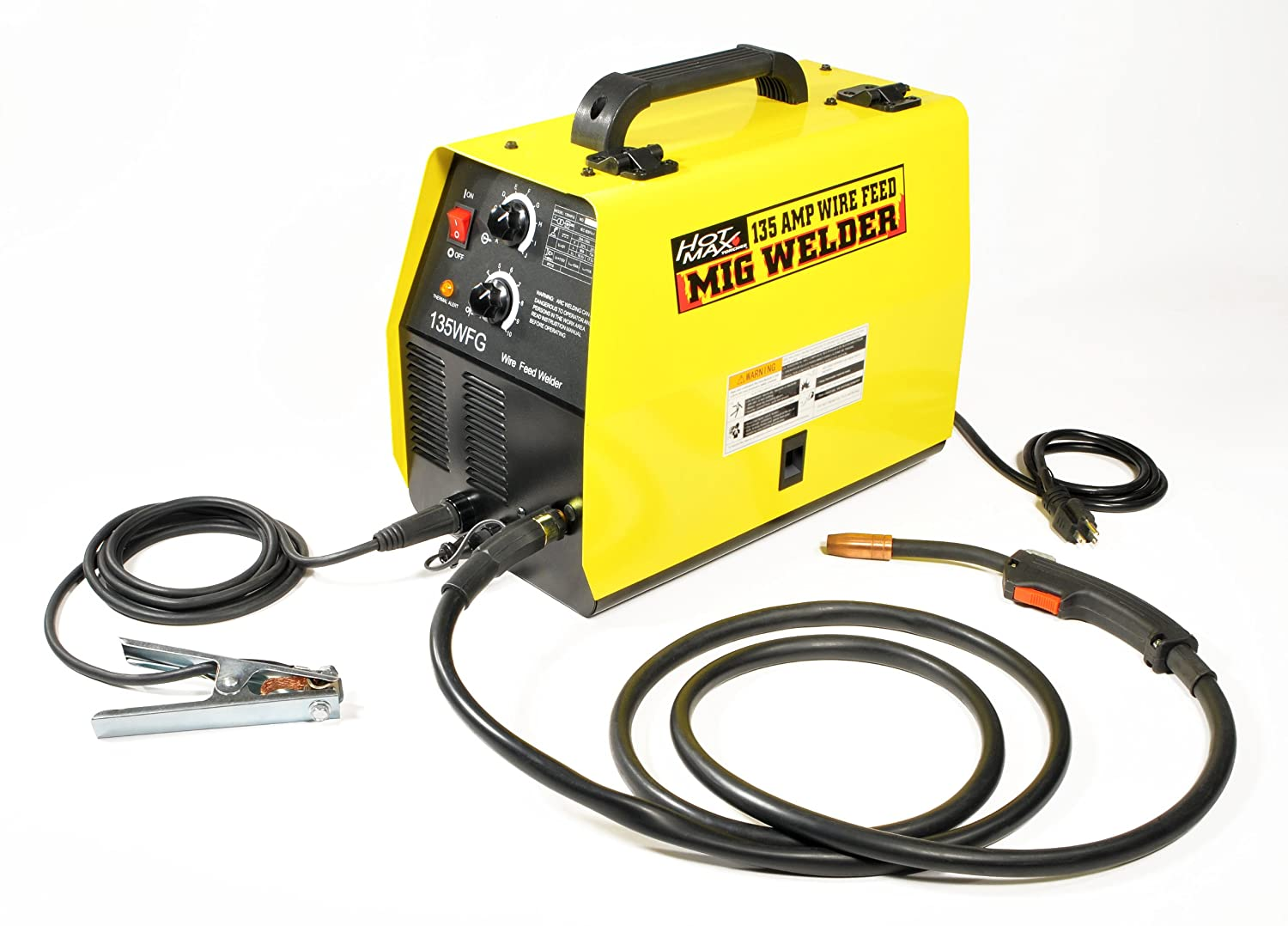 Hot Max 135WFG 135 Amp Gas Ready MIG Welder - Mig Welding Equipment -  Amazon.com