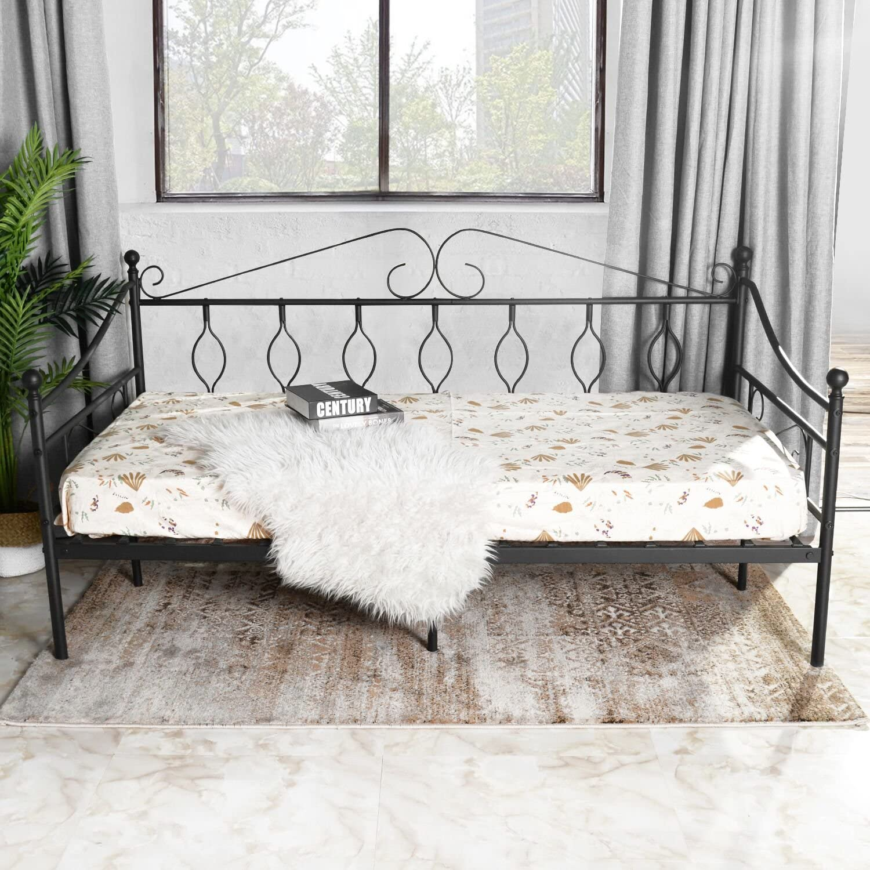 Aingoo sofá Cama Armadura de Cama con tablillas Cama de día Cama de Invitados 100 x 190 CM (sofá Cama)