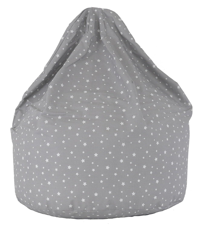 Cotton Grey Stars Bean Bag Child Size Amazoncouk Kitchen Home