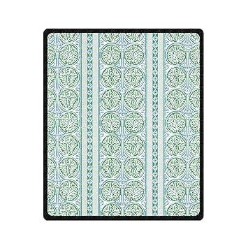 Amazon.com: Woyua Fair Isle Green and Blue Soft Blanket Super Warm ...