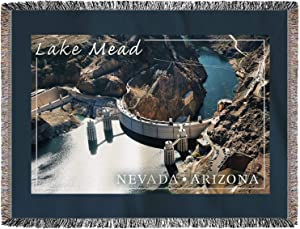 Vintage Look Funny Metal Tin Sign 12x16in,Lake Mead Nevada Arizona Hoover Dam View Sign,Park Signs Park Guide ABC Warning Signs Metal for Private PropertyOutdoor Danger Sign