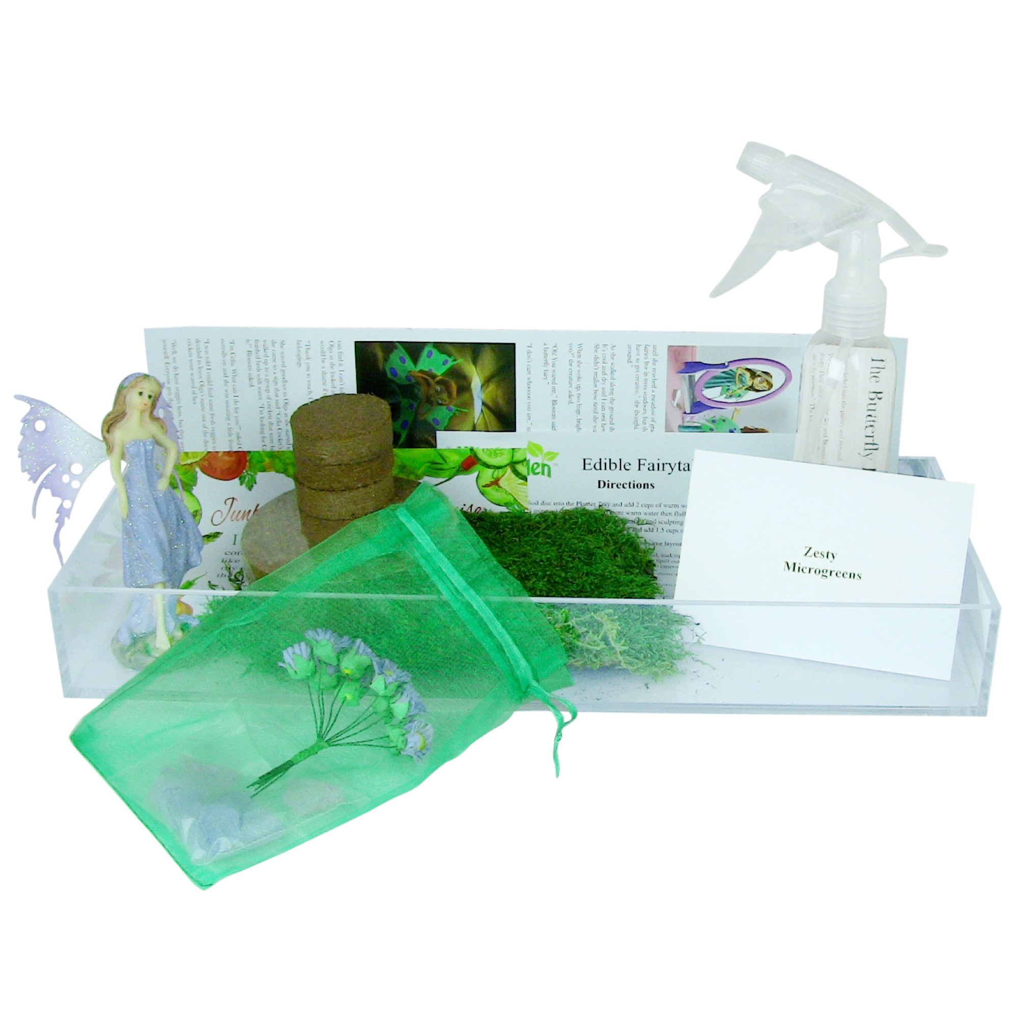 Window Garden Edible Fairy Garden Kit with an Enchanting Fairytale and Accessories by Window Garden (Image #4)