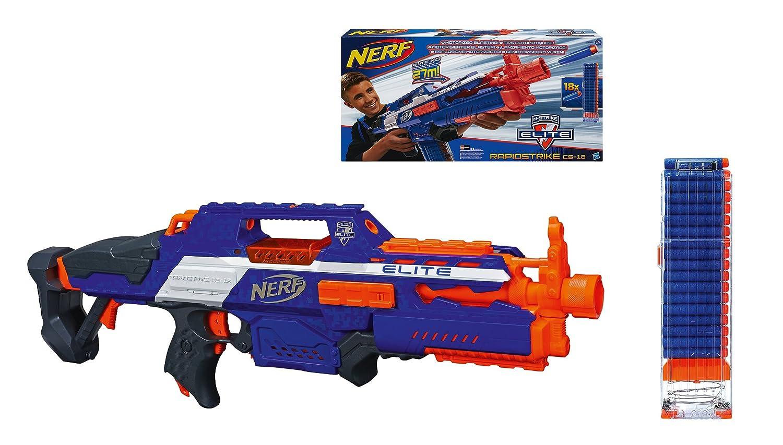 Nerf n strike elite rapidstrike cs 18 blaster for Nerf motorized rapid fire blasting
