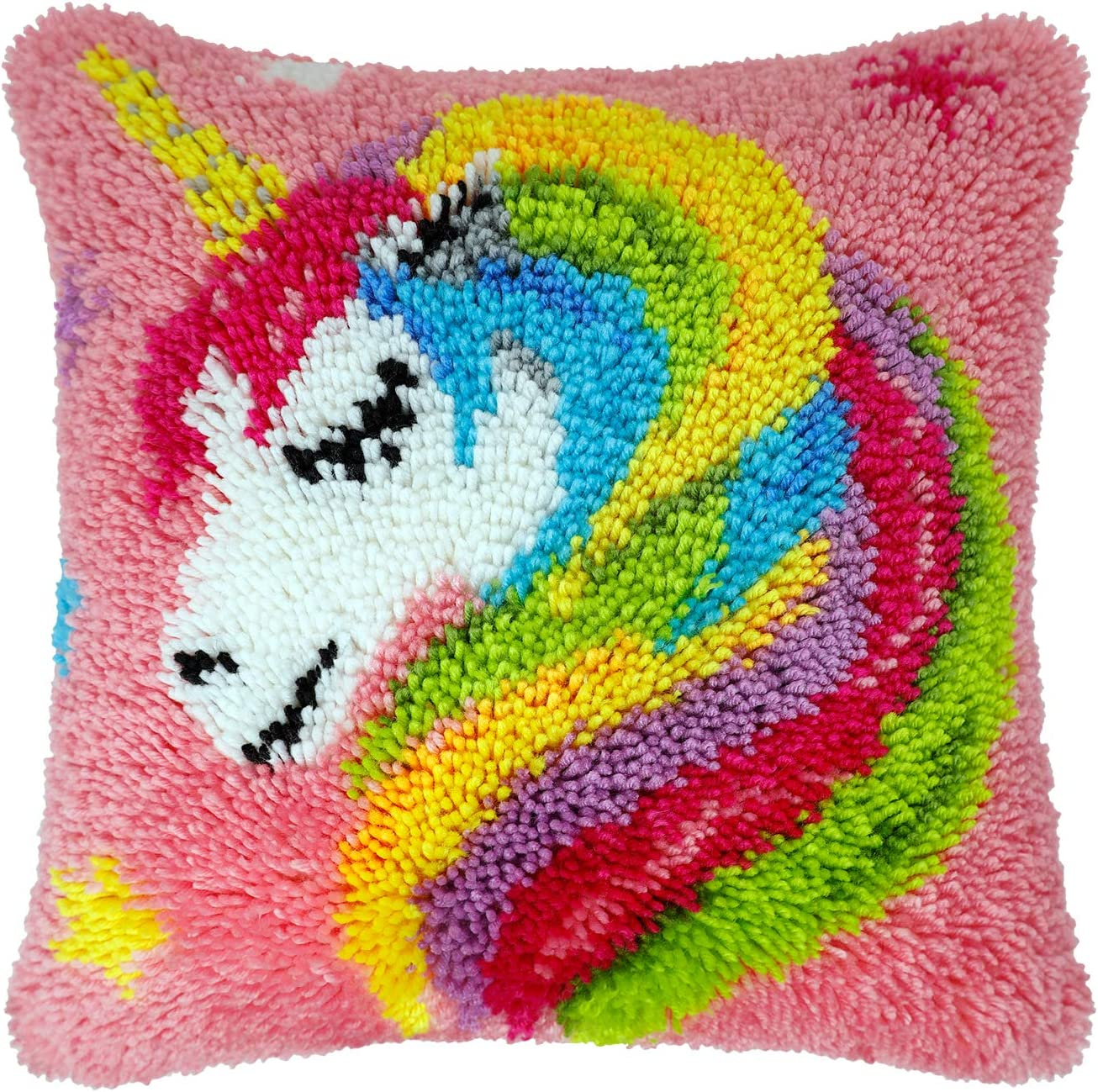 DIY Latch Hook Kit Embroidery Needlework for Rug Cushion Cover Throw Pillowcase