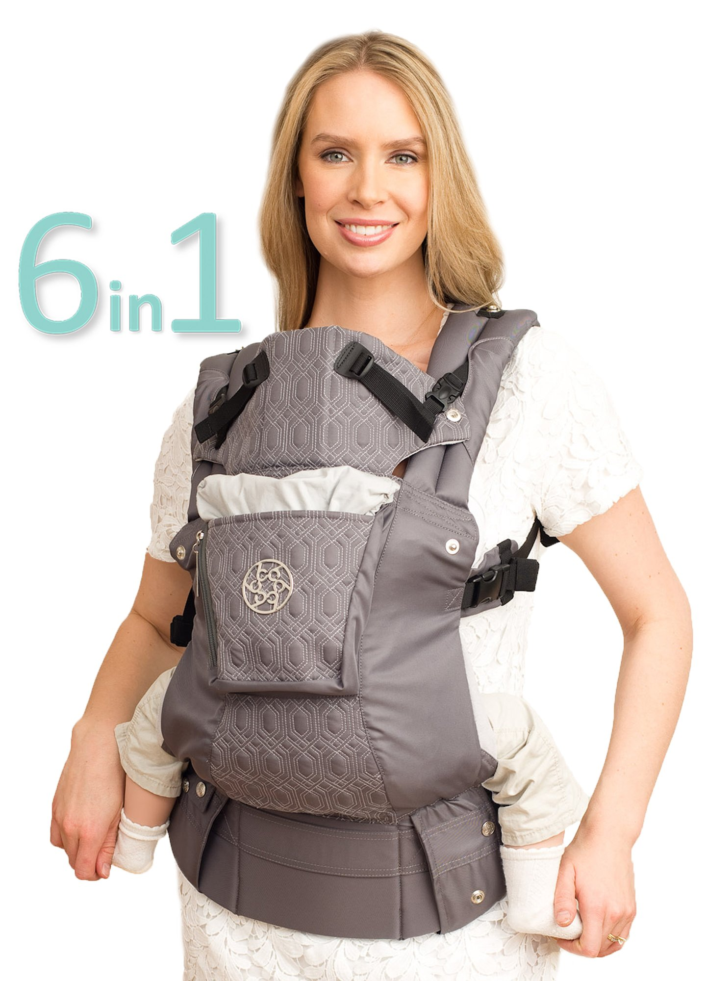 SIX-Position, 360° Ergonomic Baby & Child Carrier by LILLEbaby - The COMPLETE Embossed LUXE (Mystique)