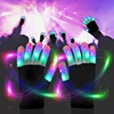 LED Gloves Light Up Rave Gloves Finger Light Gloves Novelty Toy 6 Adjust Mode
