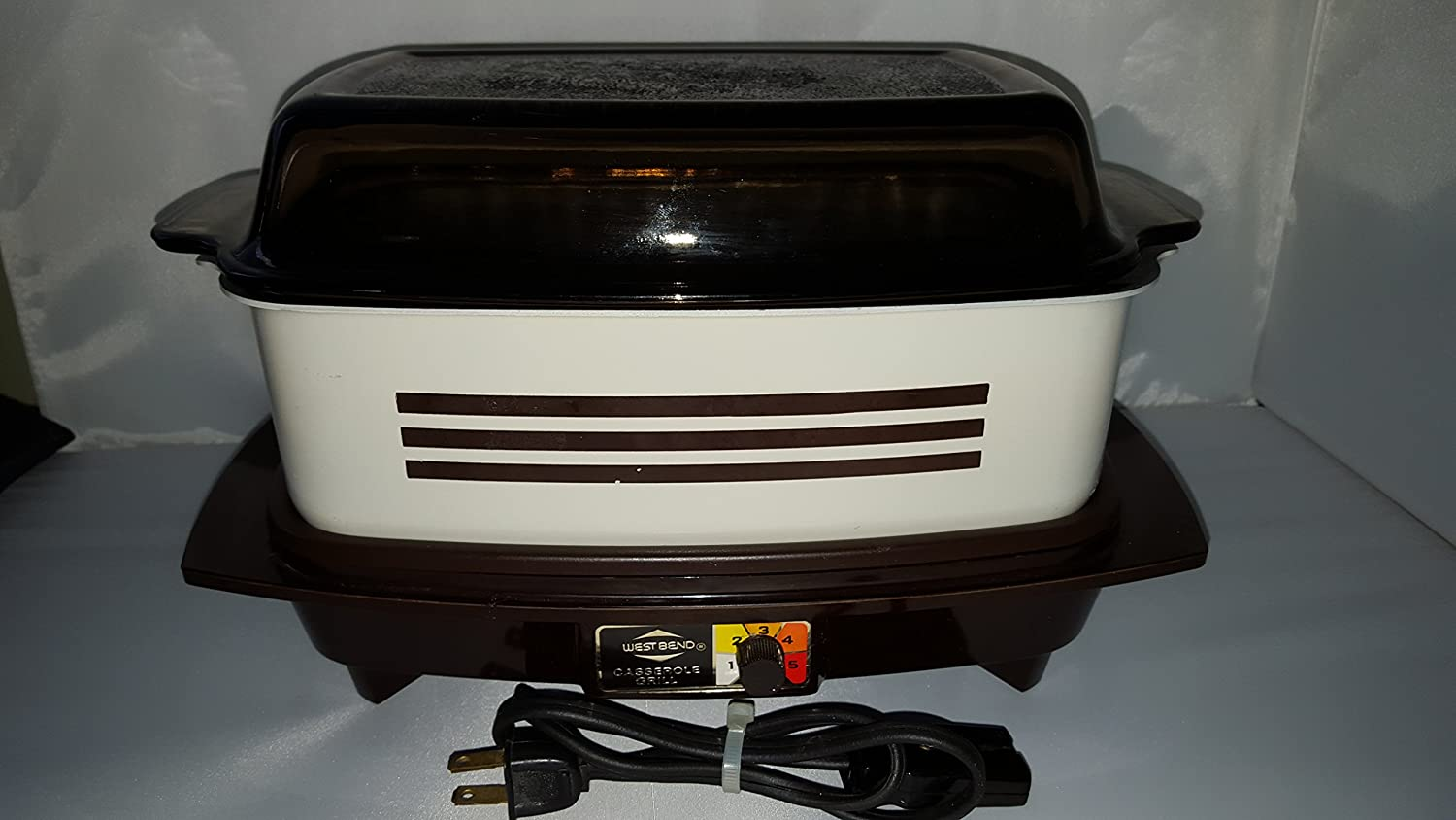 Vintage West Bend Slow Cooker Crock Pot Type 4 Quart