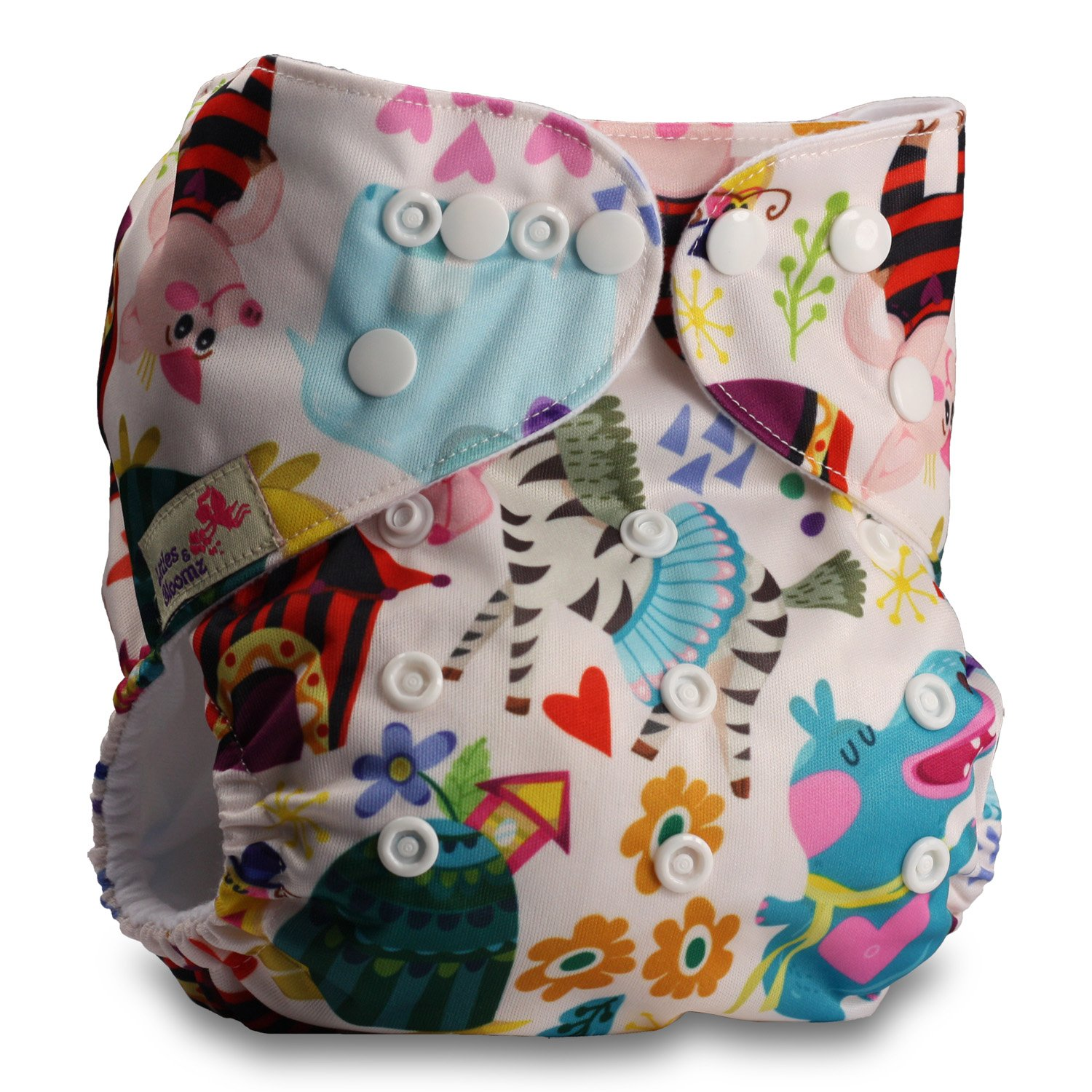 Fastener: Popper with 2 Bamboo Inserts Baby Cloth Washable Reusable Nappy Pocket Diaper Bamboo Littles /& Bloomz Pattern 20