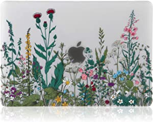 iDonzon MacBook Air 13 inch Case (A2179/A1932, 2020 2019 2018 Release), 3D Effect Matte Clear See Through Hard Cover Compatible Mac Air 13.3 inch with Retina Display Touch ID - Garden Flowers