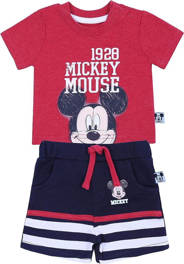 Camiseta roja + Pantalones Mickey Mouse Disney 0-3 m 62 cm: Amazon ...