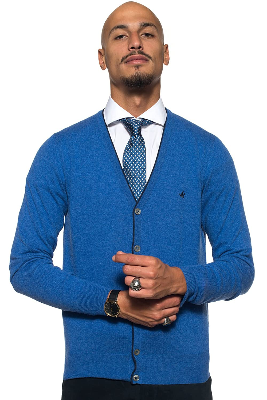 Brooksfield Men's Cardigan blue blue