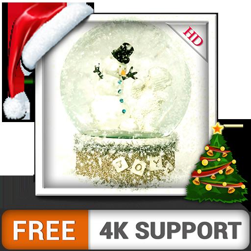 Snow Globe HD gratis decora tu pantalla con el hermoso muñeco de nieve de Navidad en invierno en tu televisor HDR 8K 4K y dispositivos de fuego como fondo de pantalla y