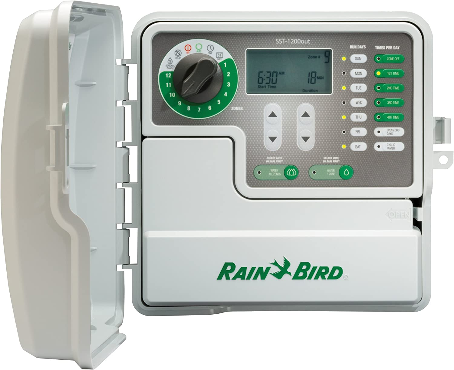 Amazon Com Rain Bird Sst1200out Simple To Set Indoor Outdoor Sprinkler Irrigation Timer Controller 12 Zone Station This New Improved Model Replaces Sst1200o Garden Outdoor