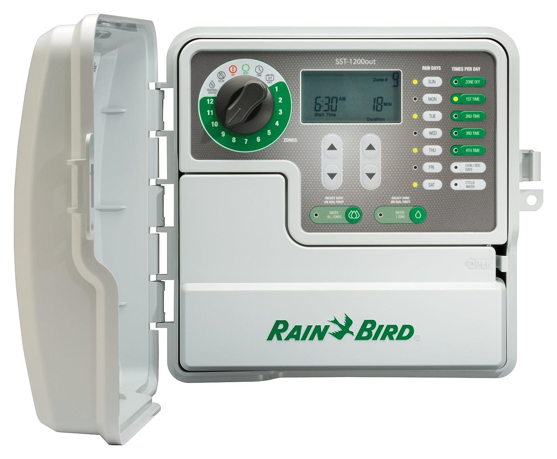 Rain Bird SST1200OUT Simple-to-Set Indoor Sprinkler Controller Outdoor Irrigation Timer 12-Station, Zone