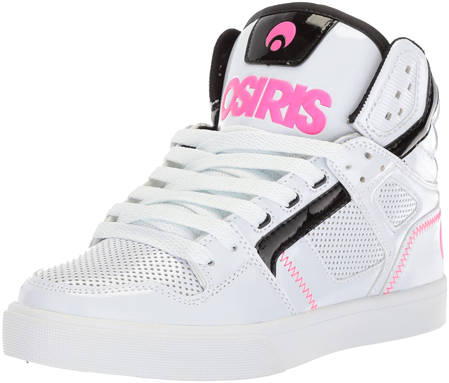 Osiris Women's Clone Skate Shoe B0746T5YBX 7 B(M) US|White/Black/Pink