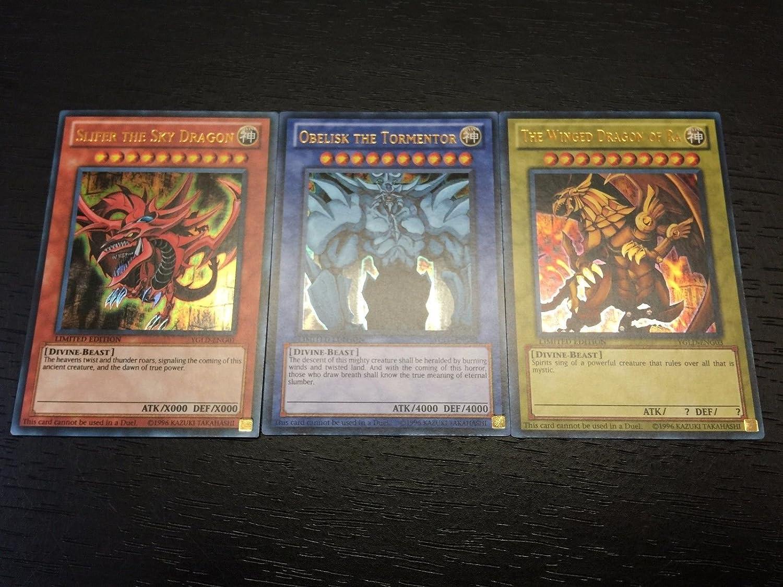Obelisk Ra  Limited Ultra Rare YGLD Yu-Gi-Oh! Egyptian God Card Set Slifer